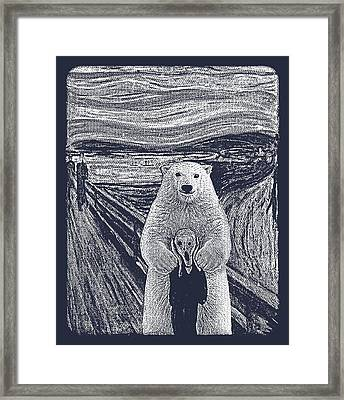 Bear Factor Framed Print by Mustafa Akgul