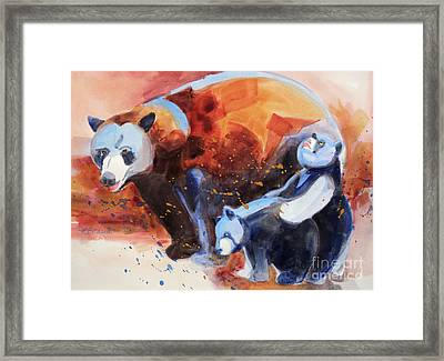 Bear Family Outing Framed Print by Kathy Braud