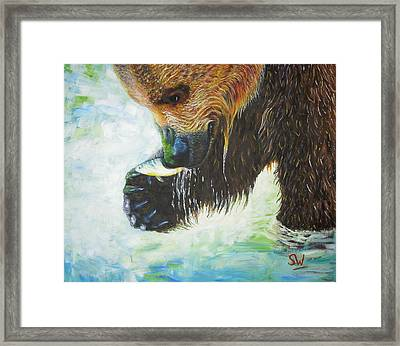 Bear Fishing Framed Print