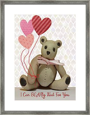 Bear For Your Valentine Framed Print by Rosalie Scanlon