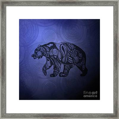 Bear Framed Print by HD Connelly