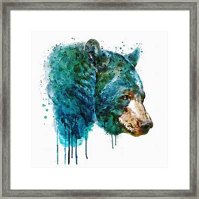 Bear Head Framed Print by Marian Voicu