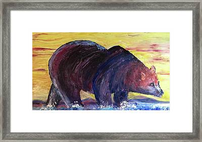 Bear Hot Summer  Framed Print