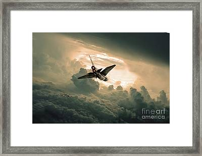 Bear Hunter Framed Print by J Biggadike