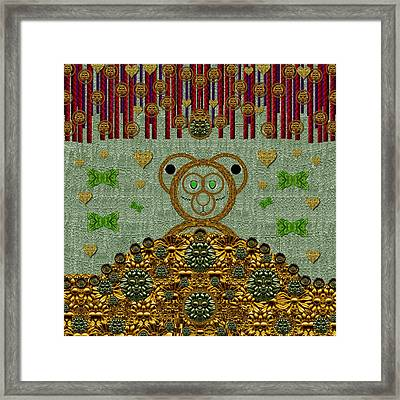 Bear In The Blueberry Wood Framed Print