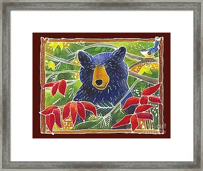 Bear In The Sumac Framed Print by Harriet Peck Taylor