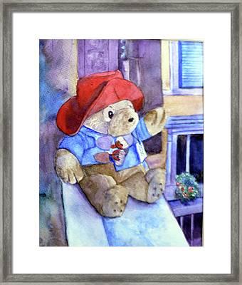 Bear In Venice Framed Print