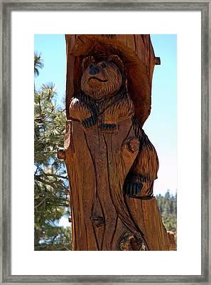 Bear In Wood Framed Print