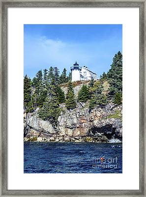 Framed Print featuring the photograph Bear Island Lighthouse by Anthony Baatz