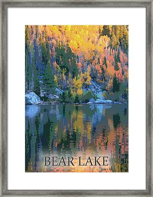 Bear Lake Colorado Poster Framed Print by Dan Sproul