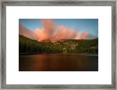 Bear Lake's Hallett Peak #1 Framed Print