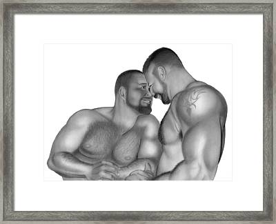 Bear Love 2 Framed Print by Brent  Marr