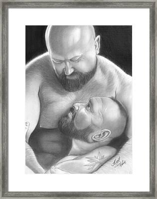 Bear Love 4 Framed Print by Brent  Marr