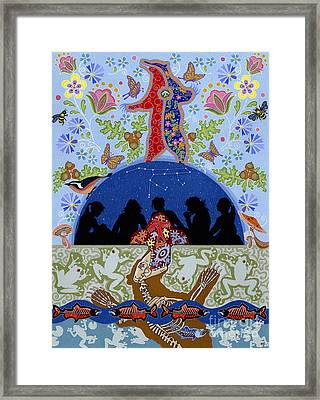 Framed Print featuring the painting Bear Medicine by Chholing Taha