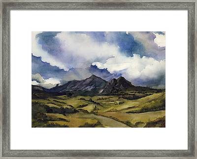 Framed Print featuring the painting Bear Mountain Colorado by Alfred Ng