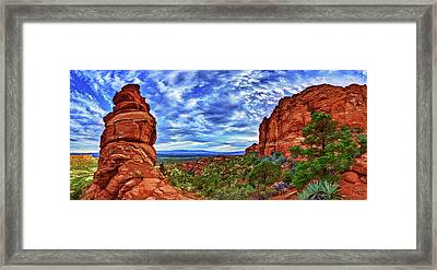 Bear Mountain Hoodoo 1 Framed Print by ABeautifulSky Photography