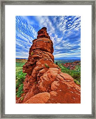 Bear Mountain Hoodoo 2 Framed Print by ABeautifulSky Photography