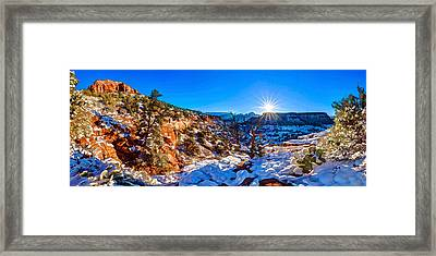 Bear Mountain Winter 1 Framed Print by ABeautifulSky Photography