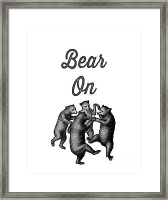 Bear On Framed Print