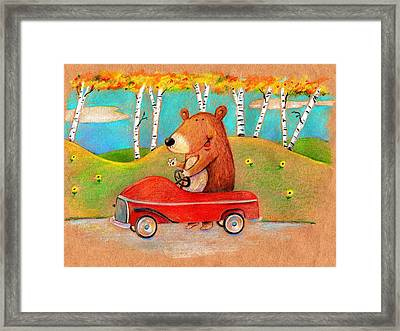 Bear Out For A Drive Framed Print