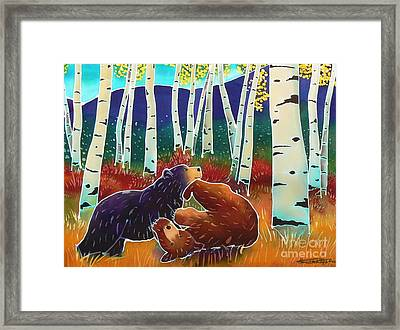 Bear Play Framed Print by Harriet Peck Taylor