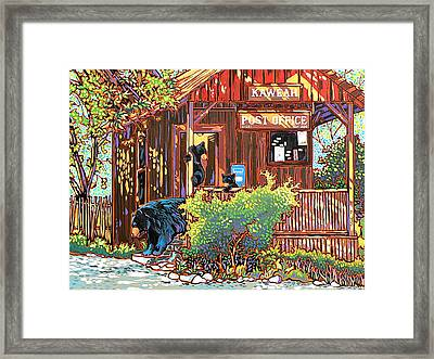 Bear Post Framed Print