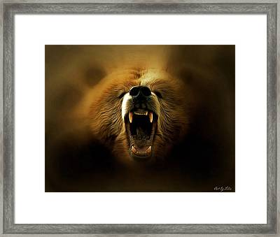 Bear Roar Framed Print