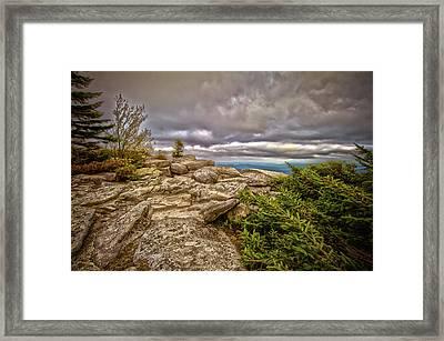 Bear Rocks Storm Framed Print