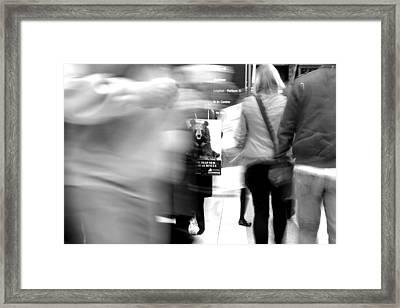 Bear Rush 1 Framed Print by Jez C Self