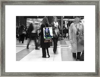Bear Rush 4 Framed Print by Jez C Self