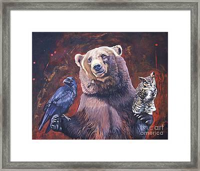 Bear The Arbitrator Framed Print