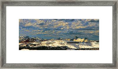 Bear Tooth Mountain Range Framed Print