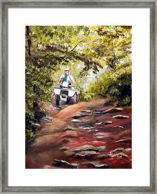 Bear Wallow Rider Framed Print by Phil Burton