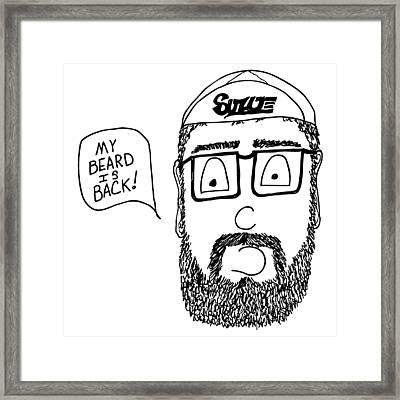 Beard Comic Framed Print by Karl Addison