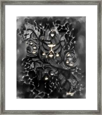 Bearded Screech Owl Framed Print
