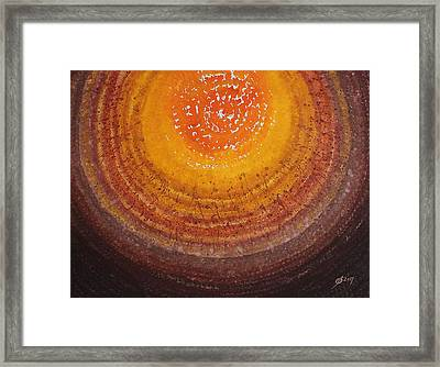 Beargrass Halo Original Painting Framed Print by Sol Luckman