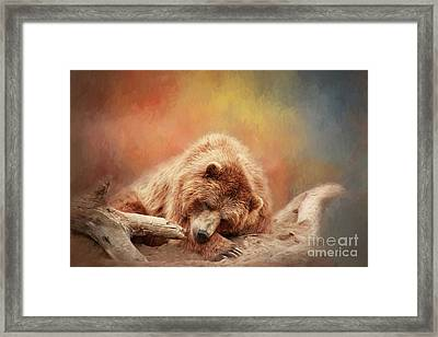 Bearly Asleep Framed Print
