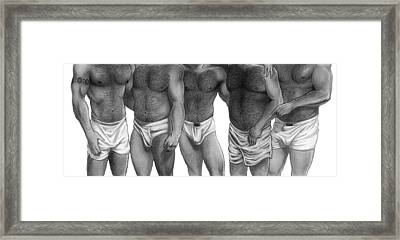 Bears And Cubs Of Portland Front Framed Print
