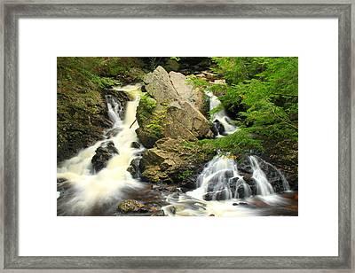 Bear's Den Waterfall New Salem Ma Framed Print by John Burk