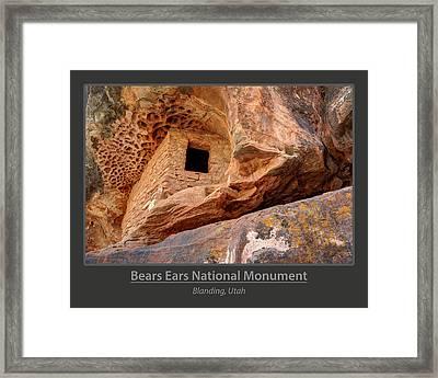 Bears Ears National Monument - Anasazi Ruin Framed Print by Gary Whitton