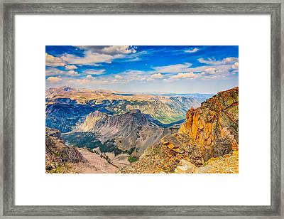 Framed Print featuring the photograph Beartooth Highway Scenic View by John M Bailey