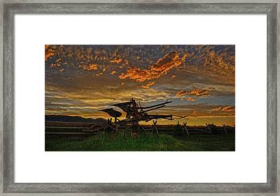 Beartooth Plow Framed Print