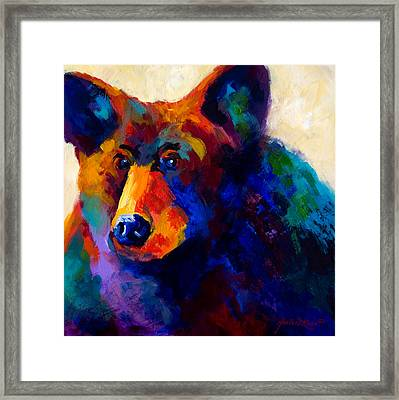 Beary Nice - Black Bear Framed Print by Marion Rose