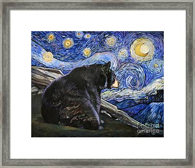 Beary Starry Nights Framed Print by J W Baker