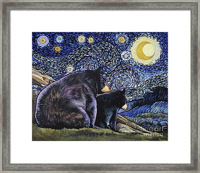 Beary Starry Nights Too Framed Print