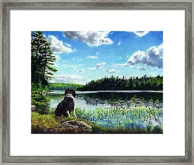 Beasley On Black Pond Framed Print by Shana Rowe Jackson