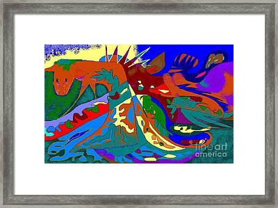 Beast In Colorful Coat Framed Print by Beebe  Barksdale-Bruner