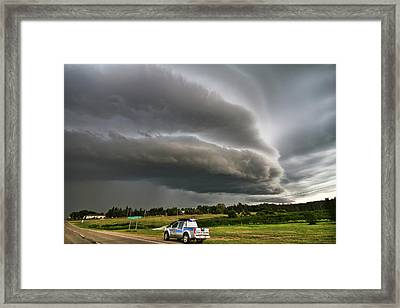 Beast Over Yorkton Framed Print