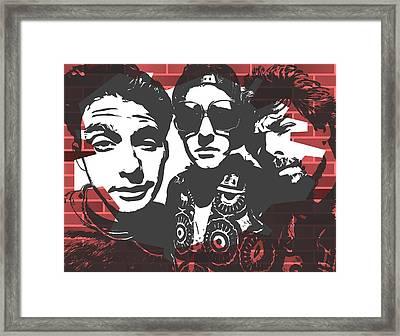 Beastie Boys Graffiti Tribute Framed Print