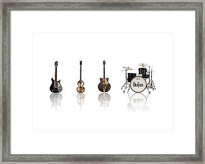 Beat Of Beatles Framed Print by Six Artist